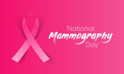 Fototapeta National Mammography day is observed every year in October, it is the process of using low-energy X-rays to examine the human breast for diagnosis and screening. Vector illustration