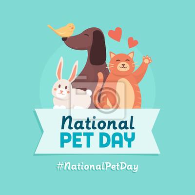 Fototapeta National pet day holiday design