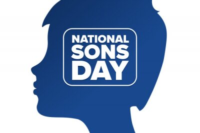 Fototapeta National Sons Day. Holiday concept. Template for background, banner, card, poster with text inscription. Vector EPS10 illustration.
