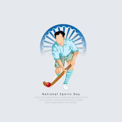 Fototapeta national sports day India- 29th of august.