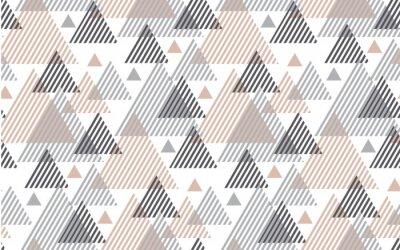 Fototapeta Naturalne baige i szare kolory nowoczesny styl ilustracji wektorowych do projektowania powierzchni. Streszczenie szwu z motywem paski trójk? T.