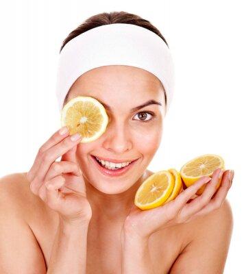 Naturalne domowe owoców twarzy maski.