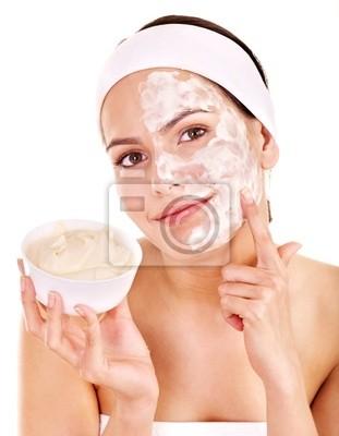 Naturalne domowych organicznych twarzy maski miodu.