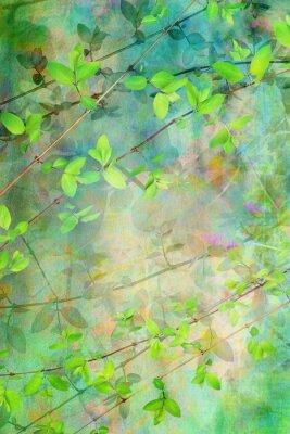 Fototapeta Naturalne Liście grunge piękne, artystyczne tle