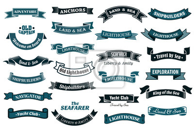 Fototapeta Nautical banery tematyczne