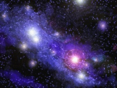 Fototapeta Nebula Digital Painting