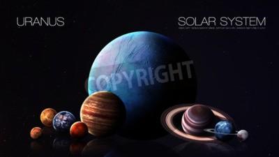 Fototapeta Neptune - rozdzielczości 5K Infografika przedstawia jeden z planety systemu słonecznego.