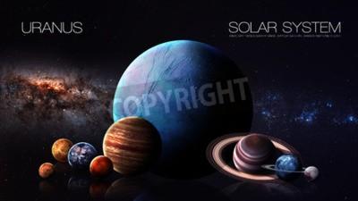 Fototapeta Neptune - rozdzielczości 5K Infografika przedstawia jeden z planety systemu słonecznego. Ten obraz elementy dostarczone przez NASA.