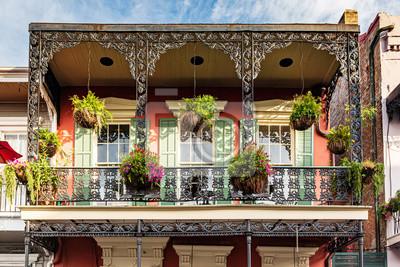 Fototapeta New Orleans French Quarter balcony