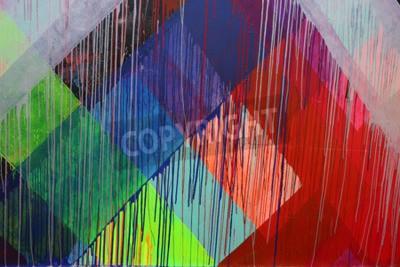 Fototapeta NEW YORK - 30 czerwca 2015: sztuka Mural przy nowej ulicy arte Ściany Coney sztuki w sekcji Coney Island na Brooklynie