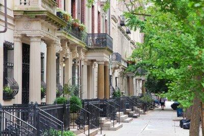 Fototapeta New York brownstone in Upper West Side