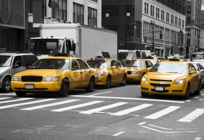 Fototapeta New York Cabs