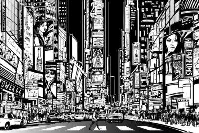 Fototapeta New York city at night
