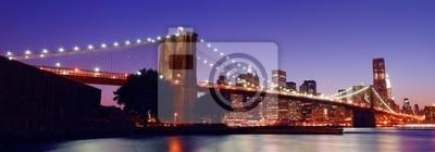 Fototapeta New York City Brooklyn Bridge panorama