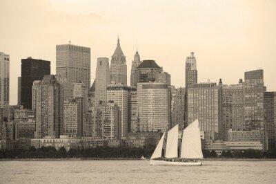 Fototapeta New York City Manhattan czerni i bieli