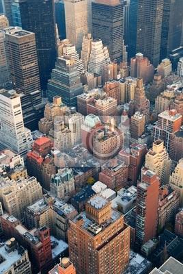 New York City Manhattan skyline, widok z lotu ptaka