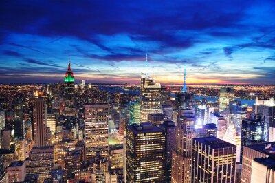 New York City Manhattan skyline z lotu ptaka