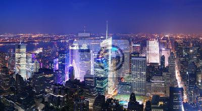 New York City Manhattan Times Square skyline, widok z lotu ptaka