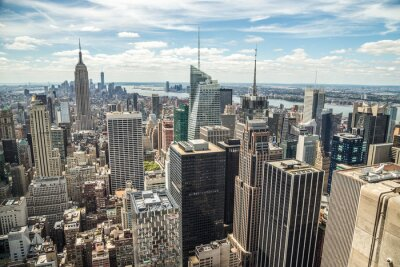 Fototapeta New York City Midtown Manhattan skyline widok budynków