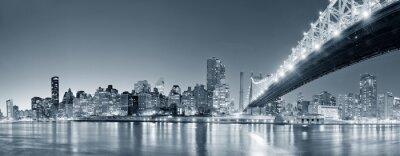 Fototapeta NEW YORK CITY NIGHT PANORAMA