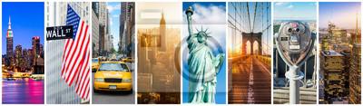Fototapeta New York City Panorama Collage