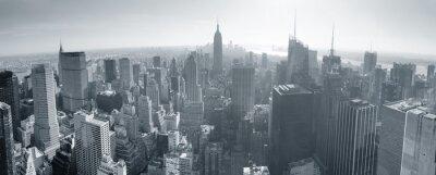 New York City skyline czarno-biały