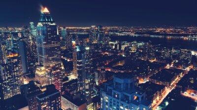 Fototapeta New York City Skyline w nocy