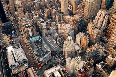 New York City street lotu ptaka
