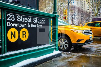Fototapeta New York City Subway Scena ulicy i