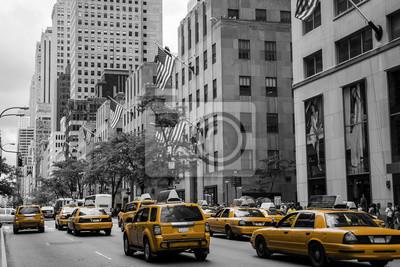 Fototapeta New York City Taxi Ulica USA czarny żółty 2
