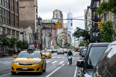 Fototapeta New York City Taxi Ulice USA Big Apple Skyline