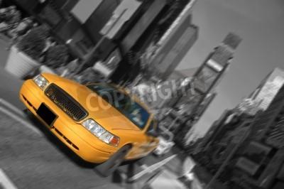 Fototapeta new york city times square, taxi motion blur