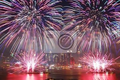New York City Wyświetl fajerwerków