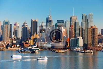 Fototapeta NEW YORK CITY z wieżowców