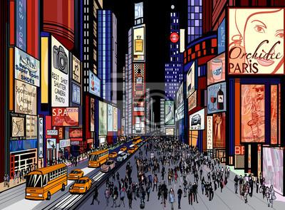 New York - nocny widok na Times Square