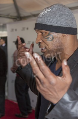 Fototapeta New York, NY, USA - April 19, 2014: Professional Boxer Mike Tyson attends Tribeca Talks: After the Movie: 'Champs' during the 2014 Tribeca Film Festival at the SVA Theater, Manhattan