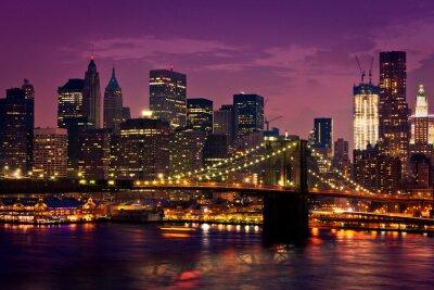 Fototapeta New-York pont de Brooklyn