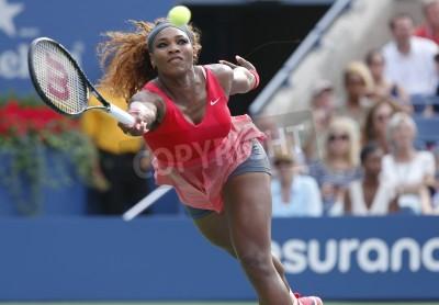 Fototapeta NEW YORK- SEPTEMBER 1  Grand Slam champion Serena Williams during fourth round match at US Open 2013 against Sloane Stephens at Billie Jean King National Tennis Center on September 1, 2013 in New York