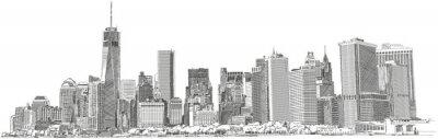 Fototapeta New York Skyline wieżowiec Wolkenkratzer Zeichnung