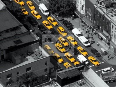 Fototapeta New York Taxi Kabiny