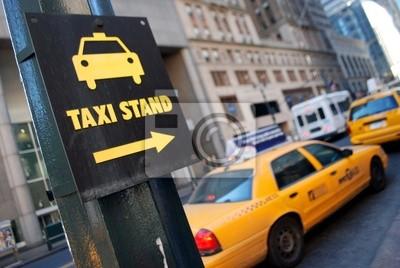 Fototapeta New York taxi stand