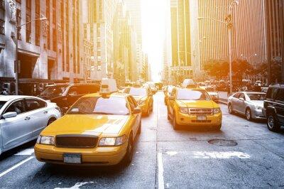 Fototapeta New York Taxi w słońcu