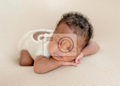 Fototapeta Newborn child resting