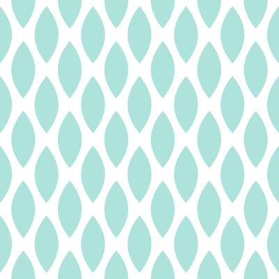 Fototapeta Niebieski krople wektor bez szwu geometryczny wzór.