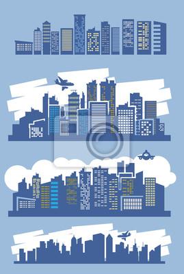 niebieski miasto
