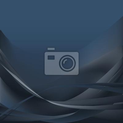 Fototapeta Niebieskie ciemne i szare fale abstrakcyjne tło