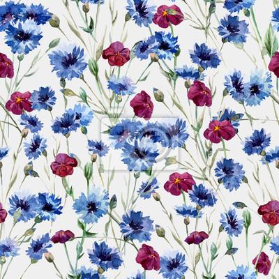 Fototapeta Niebieskie kwiaty 10