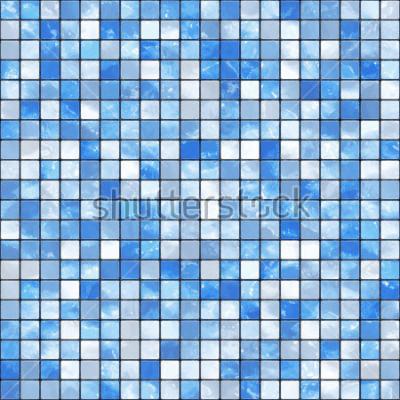 Fototapeta Niebieskie tło mozaiki