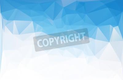 Fototapeta Niebieskie Wielokątne Tła Mozaiki, Szablony Projektów Kreatywnych