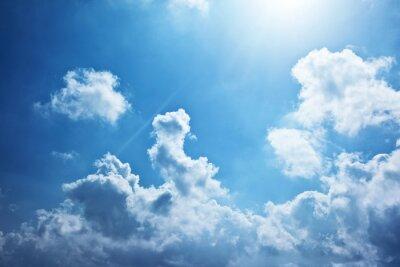 Fototapeta Niebieskim tle nieba